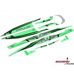 Proboat naklejki zielone/czarne: Impulse 32