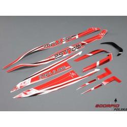 Proboat naklejki białe/czerwone: Impulse 32